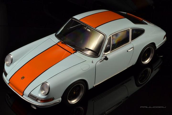 Porsche 911s 1967 Gulf Scheme Autoart 1:18