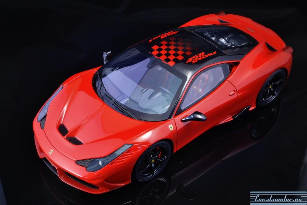 Restauración Ferrari 458 speciale BBR escala 1:18 Parte II