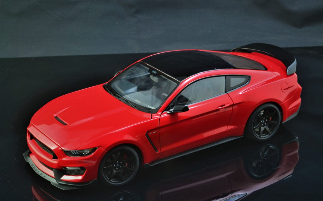 Ford Shelby mustang GT350R autoart, techo negro