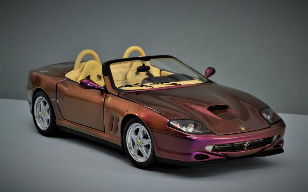 Restauración Ferrari 550 Barchetta  Pininfarina Hot wheels elite escala 1:18