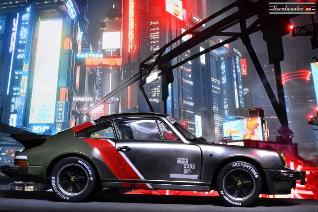 porsche 911 cyberpunk 1:18 modelcar